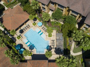 Three Bedroom Apartments for Rent in Northwest Houston, TX -Aerial View of Community & Pool (3)